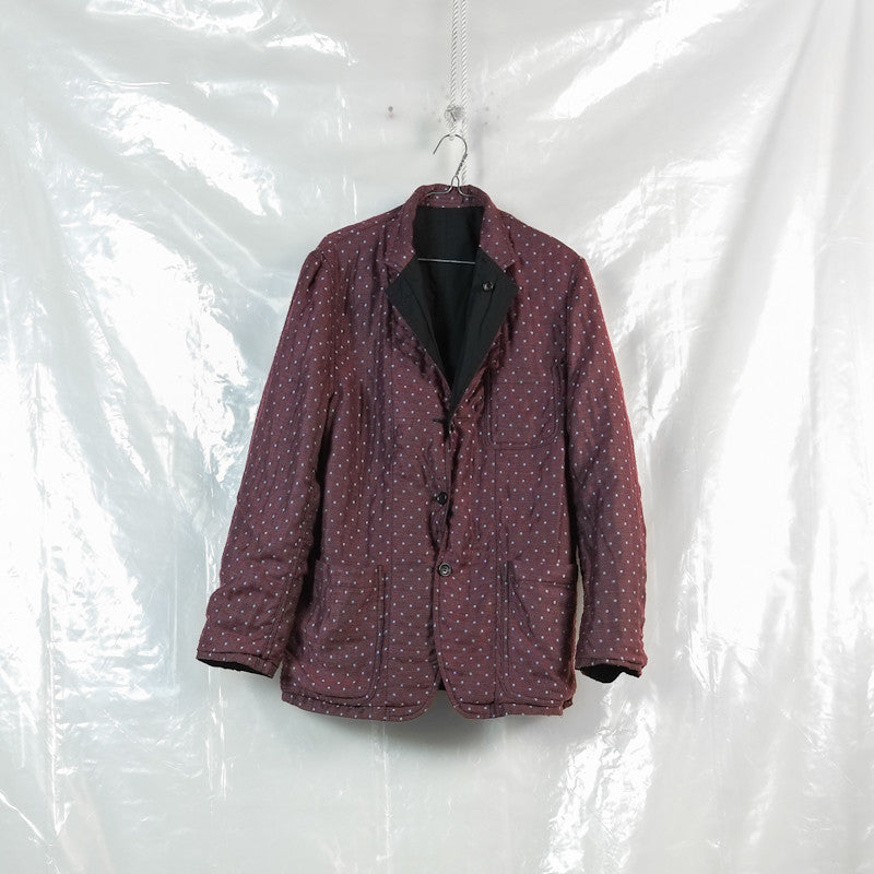 reversible three button blazer