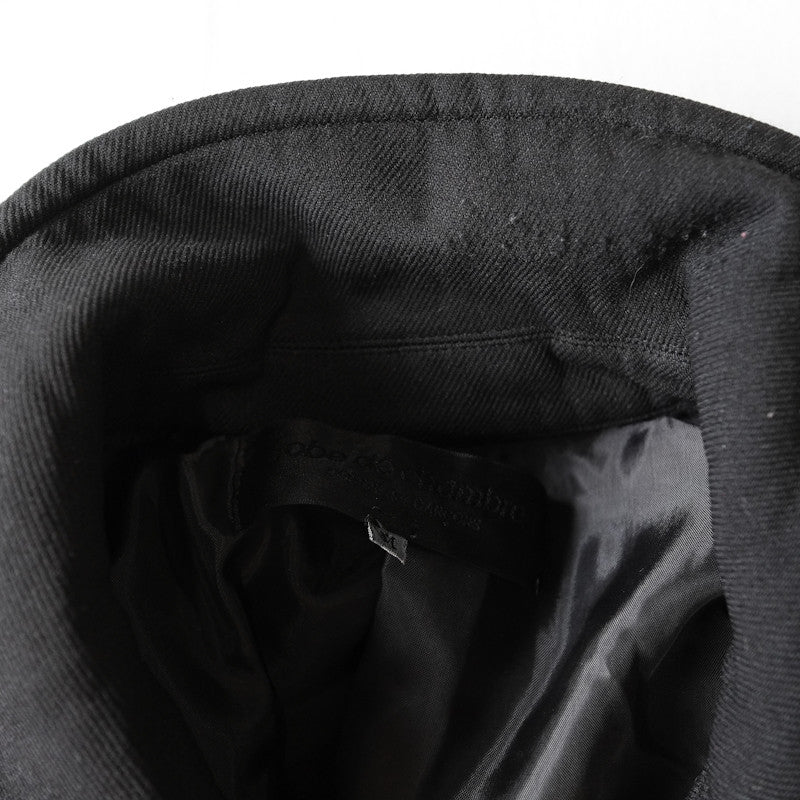 Comme des garcons boiled polyester pea coat - 2004
