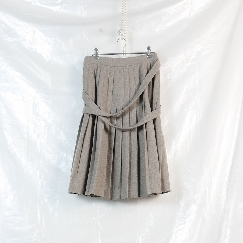 pleated strap kilt skirt