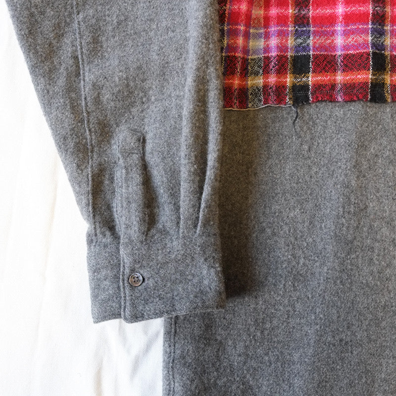 patched wool shirt