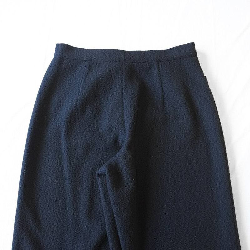 yohji yamamoto boiled wool double pocket trousers