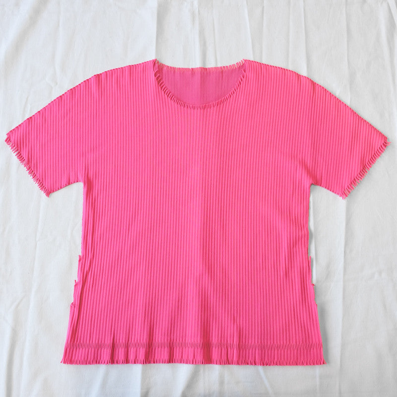 ribbed short sleeve top