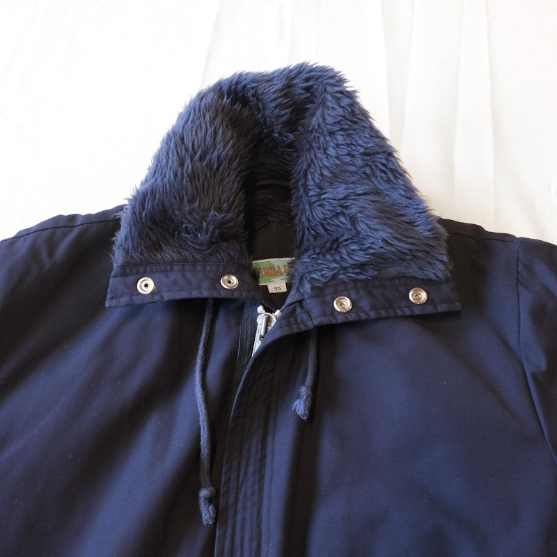 hooded high neck parka