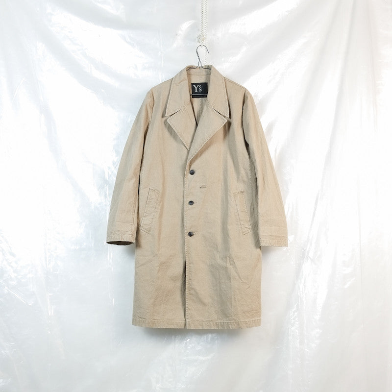 multiple button stonewashed coat