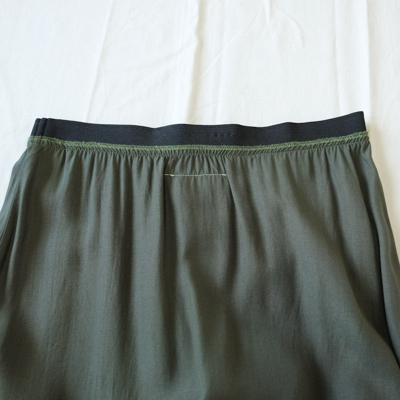 elasticated sateen skirt