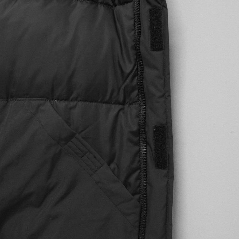 high neck hooded down jacket