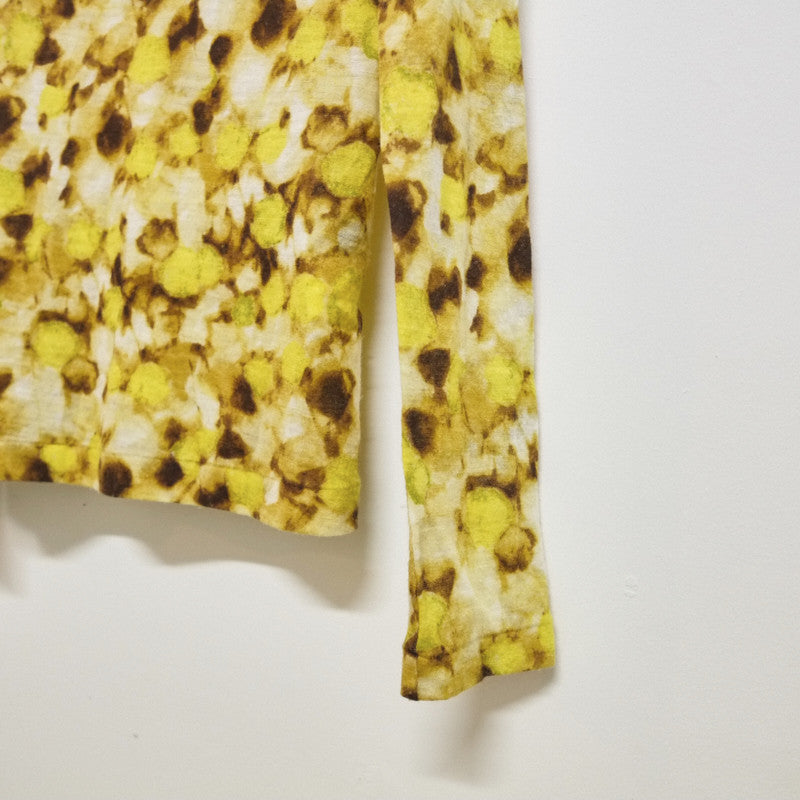 sunflower print turtleneck top