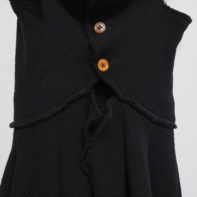comme des garcons twisted circular bodice knit dress - A/W 2002