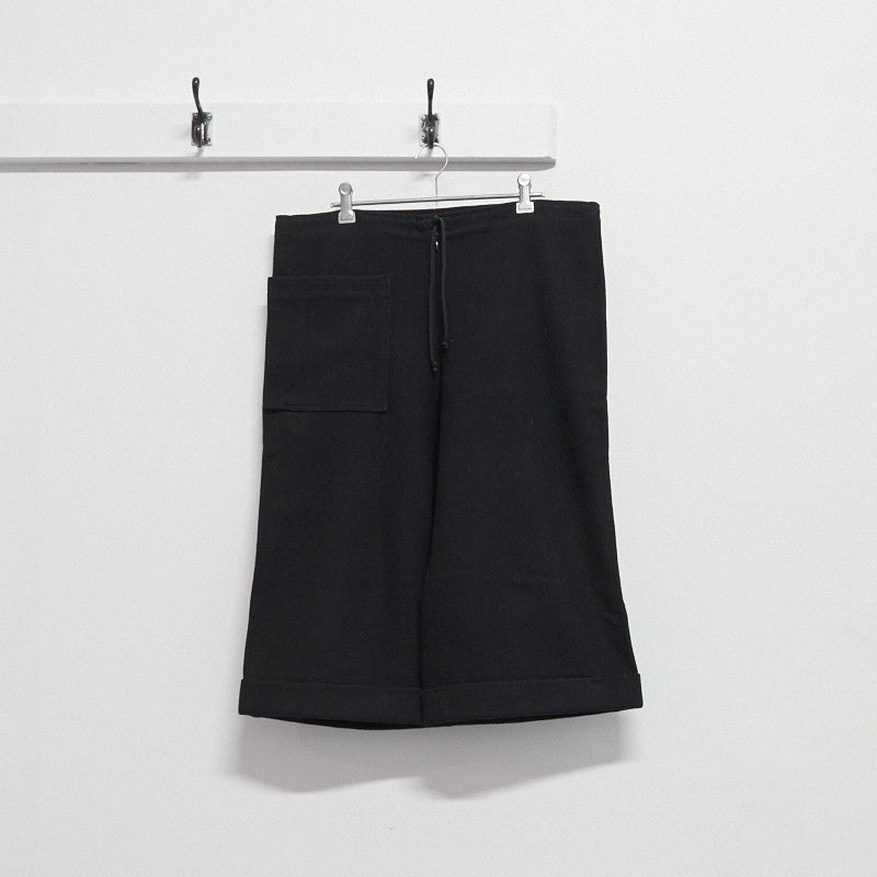 drawstring waist 3D pocket shorts