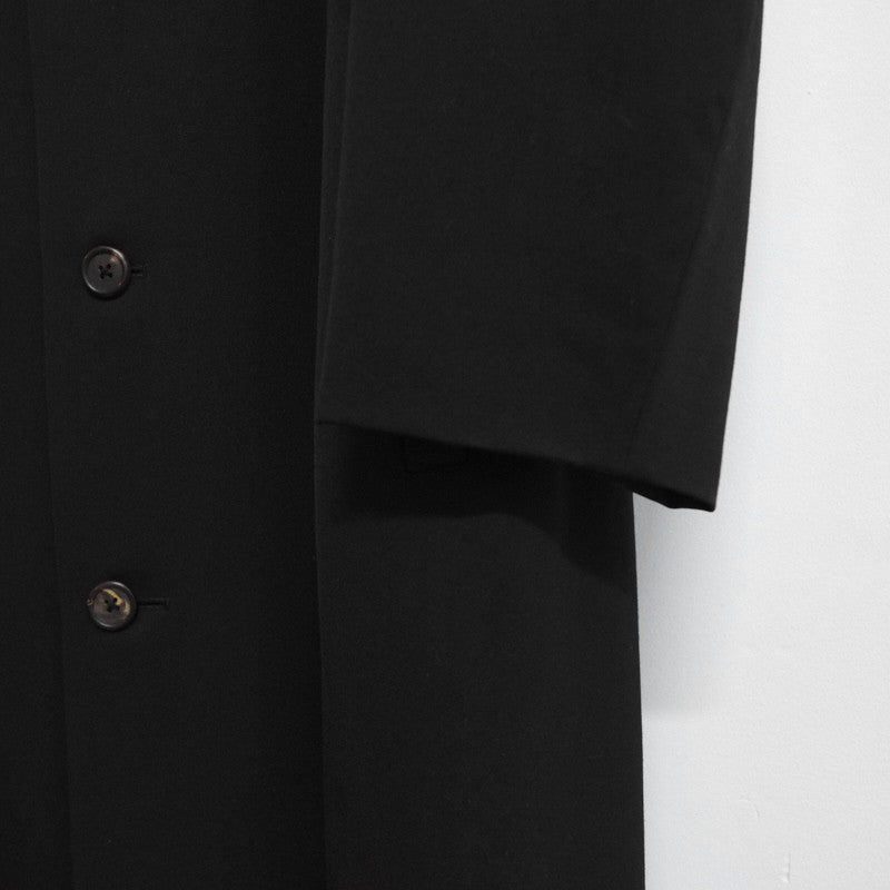 convertible collar gabardine coat
