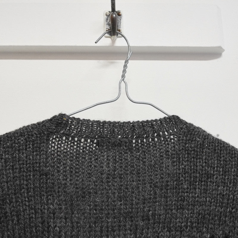 distressed v neck jumper