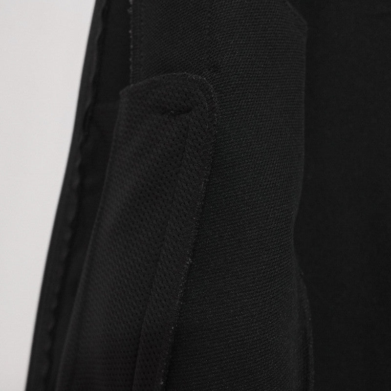 curved pocket zip jacket