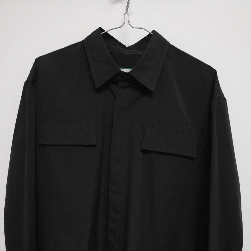 double pocket concealed placket shirt