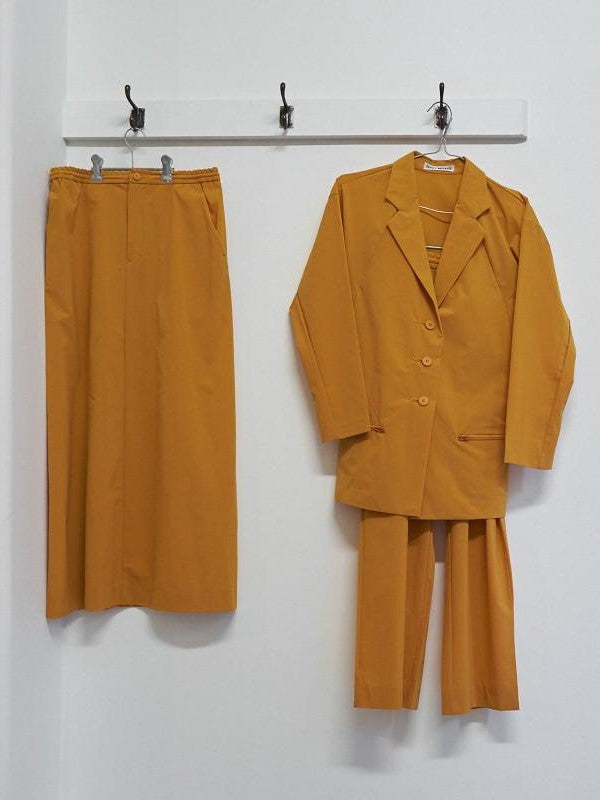 issey miyake three piece jacket / trouser / skirt set
