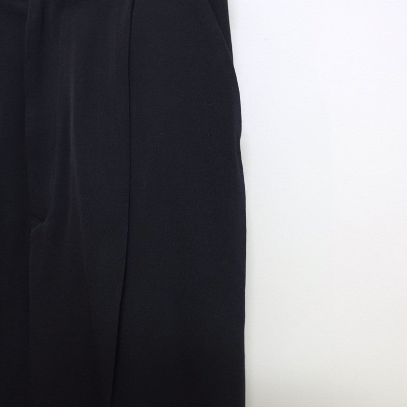 lightweight gabardine pleated trousers