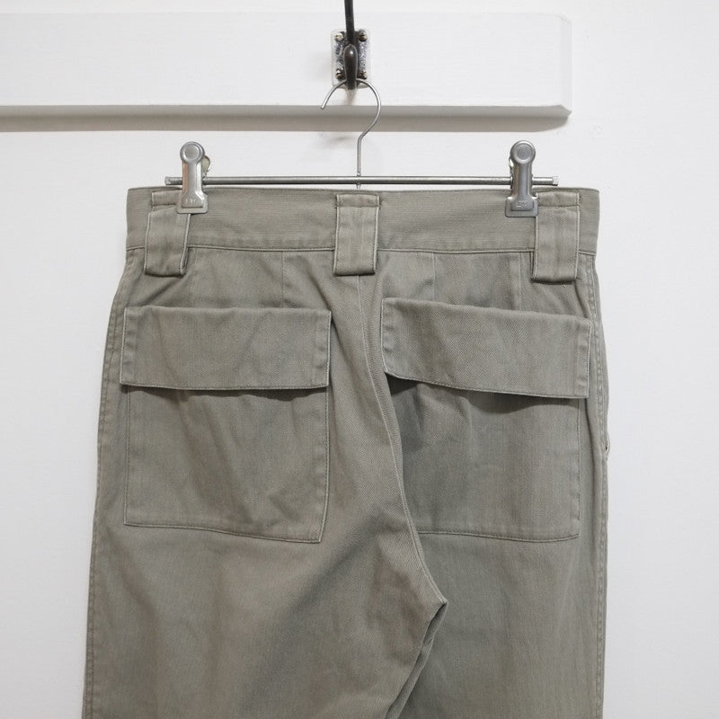 flap pocket cuffed trousers