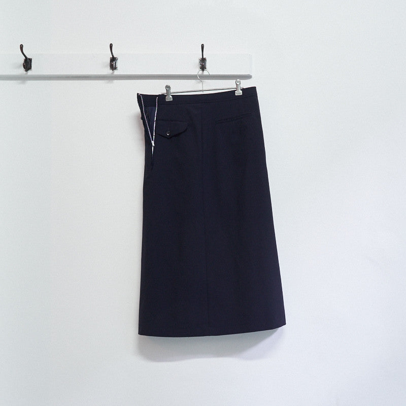 front button zip skirt
