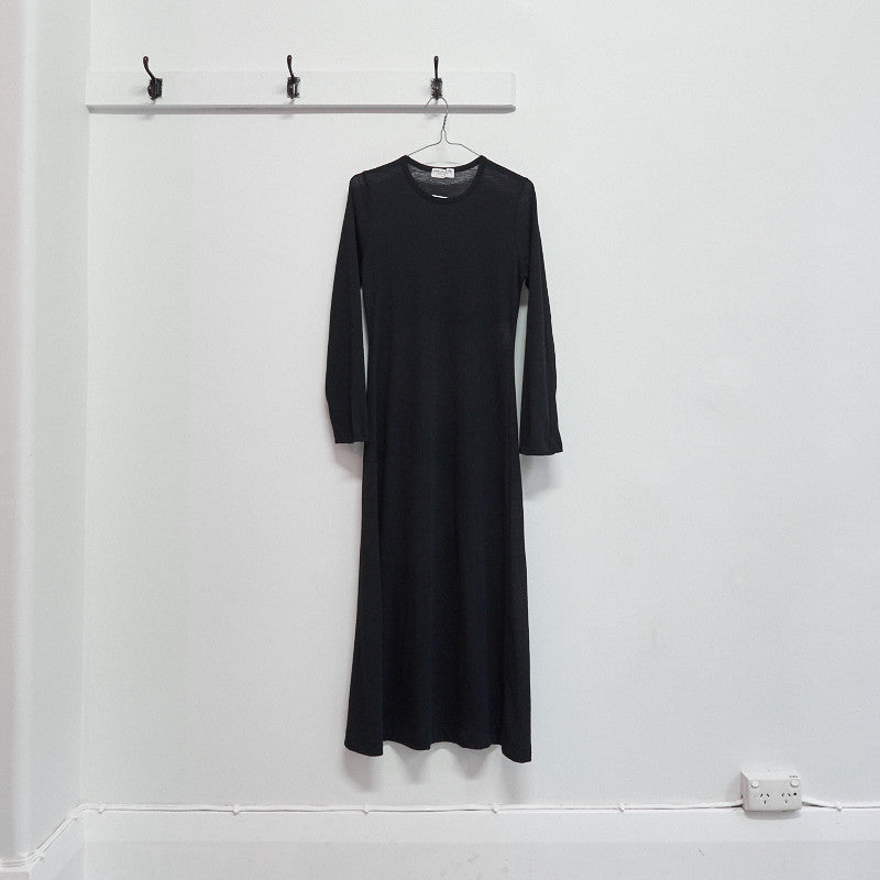 semi sheer longsleeve dress