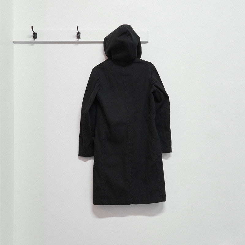 cotton drill hooded coat