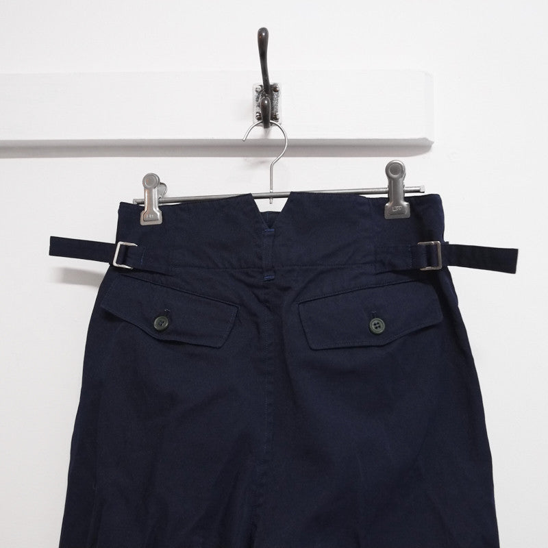 boiled polyester side buckle trousers