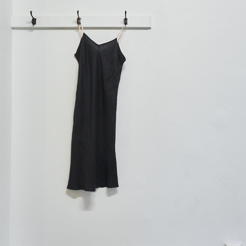 Bias cut linen slip dress