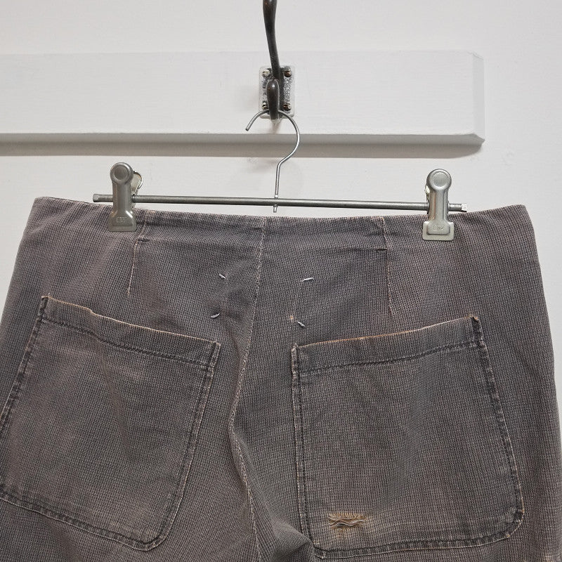 distressed overdye trousers