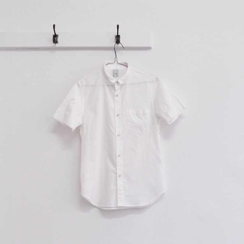 raw edge short sleeve shirt