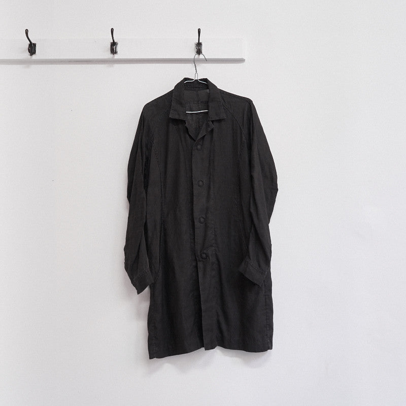 linen press stud coat