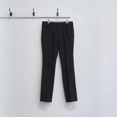 curved seam buckle trousers