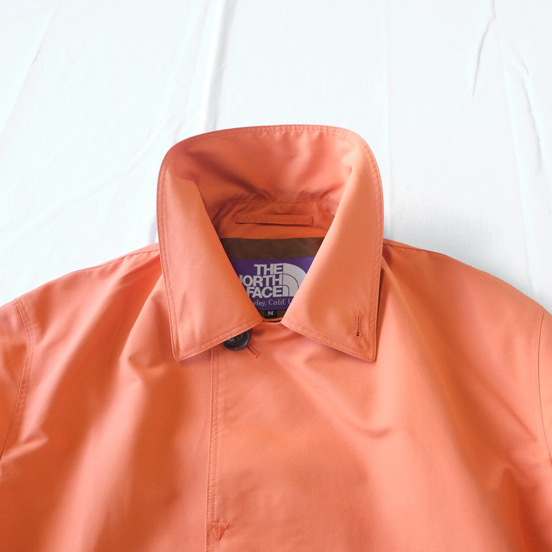concealed placket rain coat