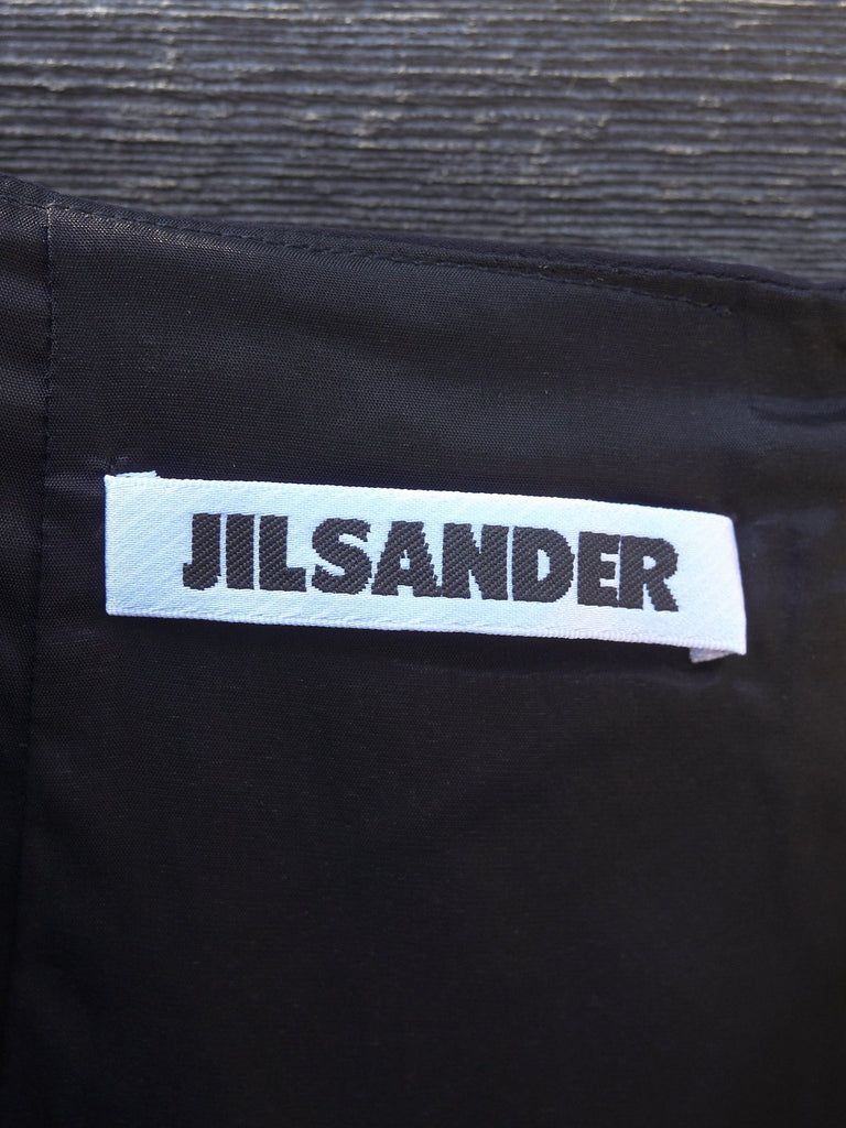 Jil Sander black polyester blend diamond detail skirt - womens 34