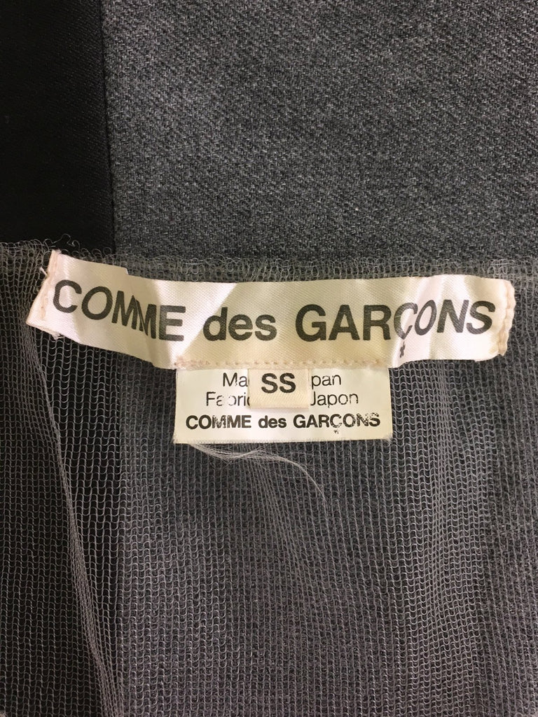 Comme des Garcons 2006 wool and mesh cardigan - womens SS / XS