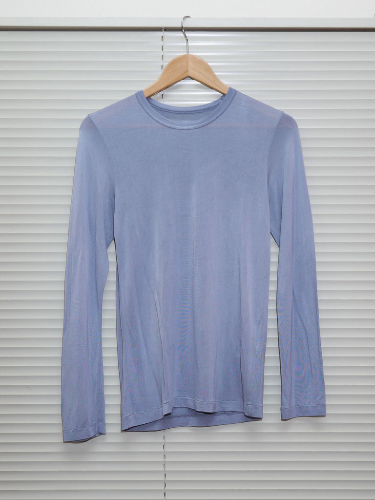 Tricot Comme des Garcons 1994 lavender rayon long sleeve top - womens S