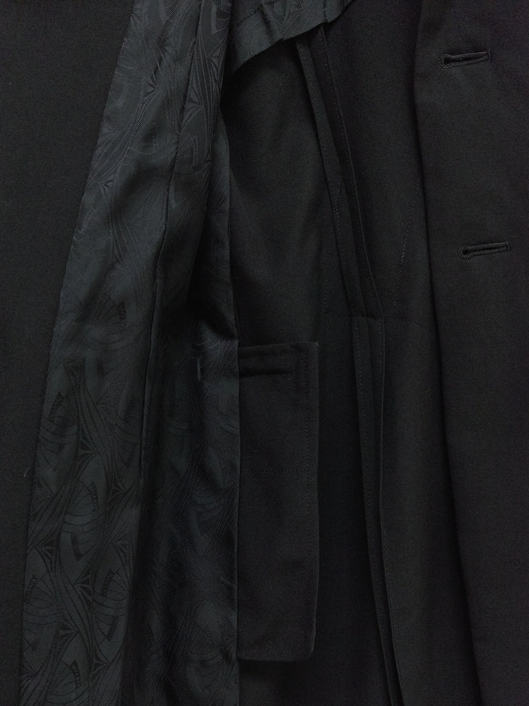 Comme des Garcons AW1992 black wool back tuck 3 button coat - womens M S