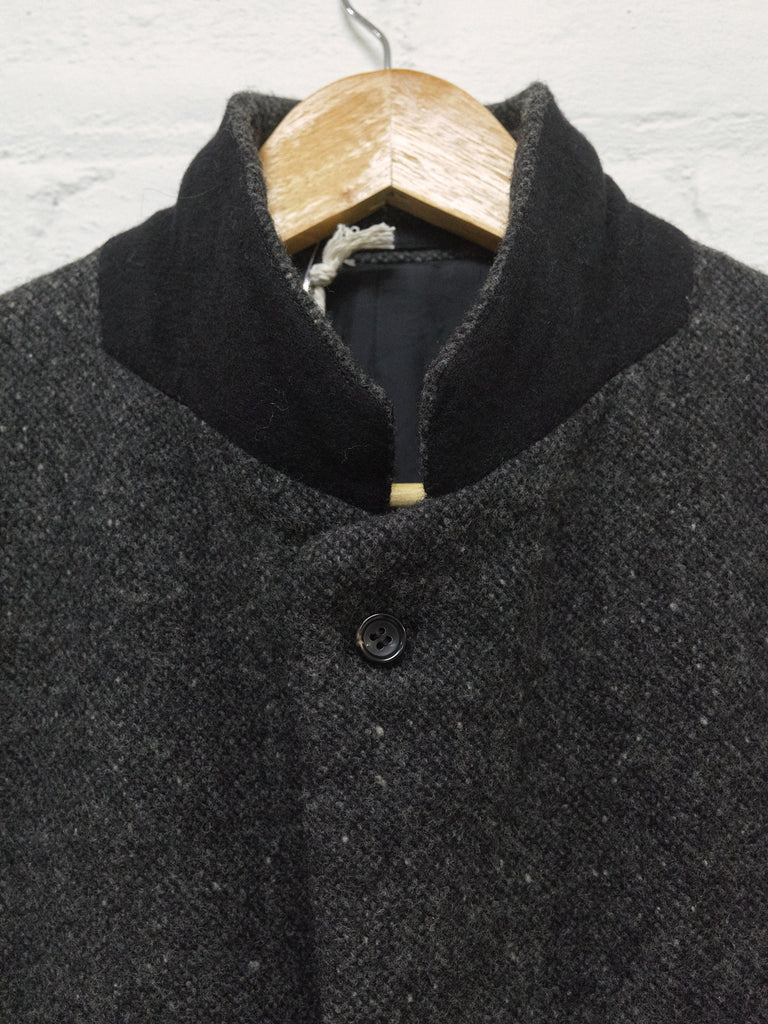 Comme des Garcons Homme 2003 grey boiled wool 3 button blazer - mens S M