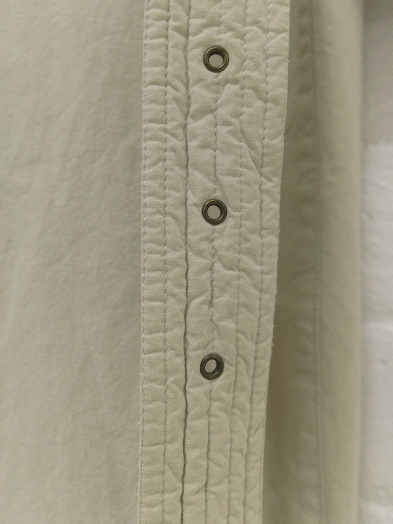 Giorgio Armani 1990s beige cotton covered placket mackintosh coat - mens 50