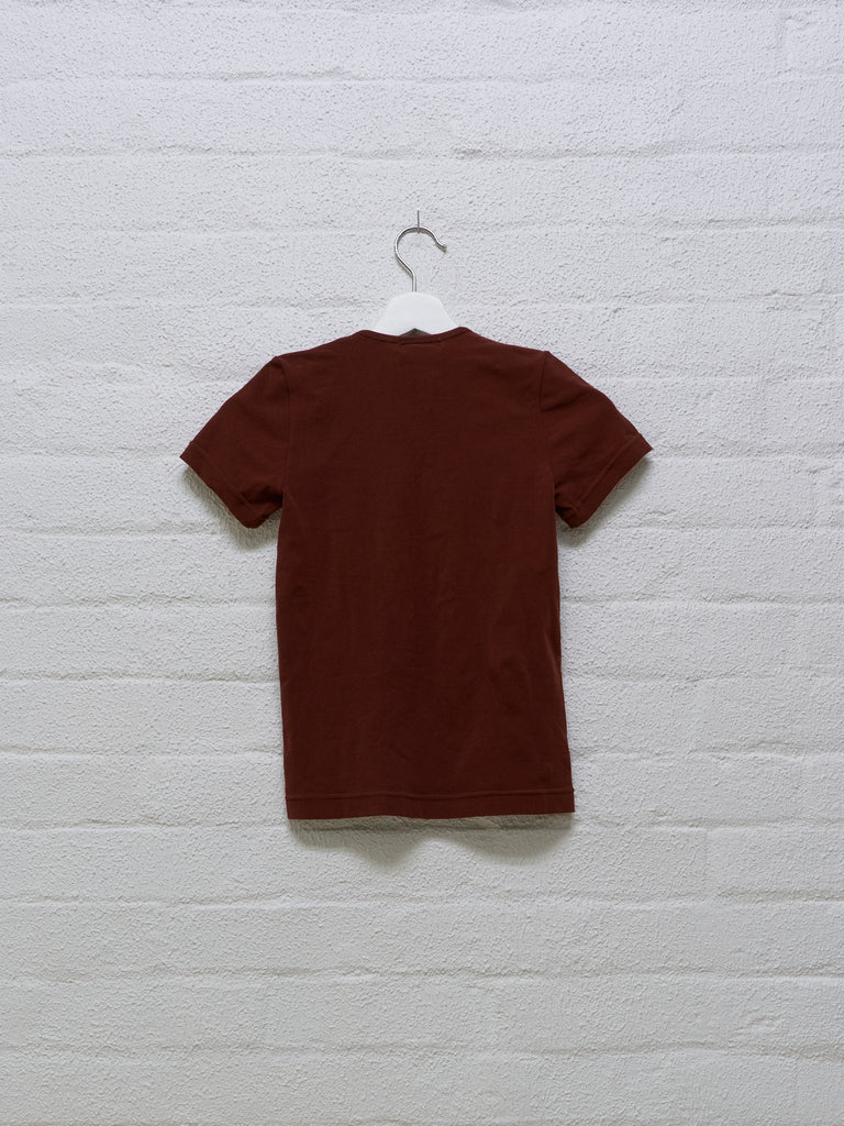 Comme des Garcons 1996 brown ultra stretch tshirt - womens S