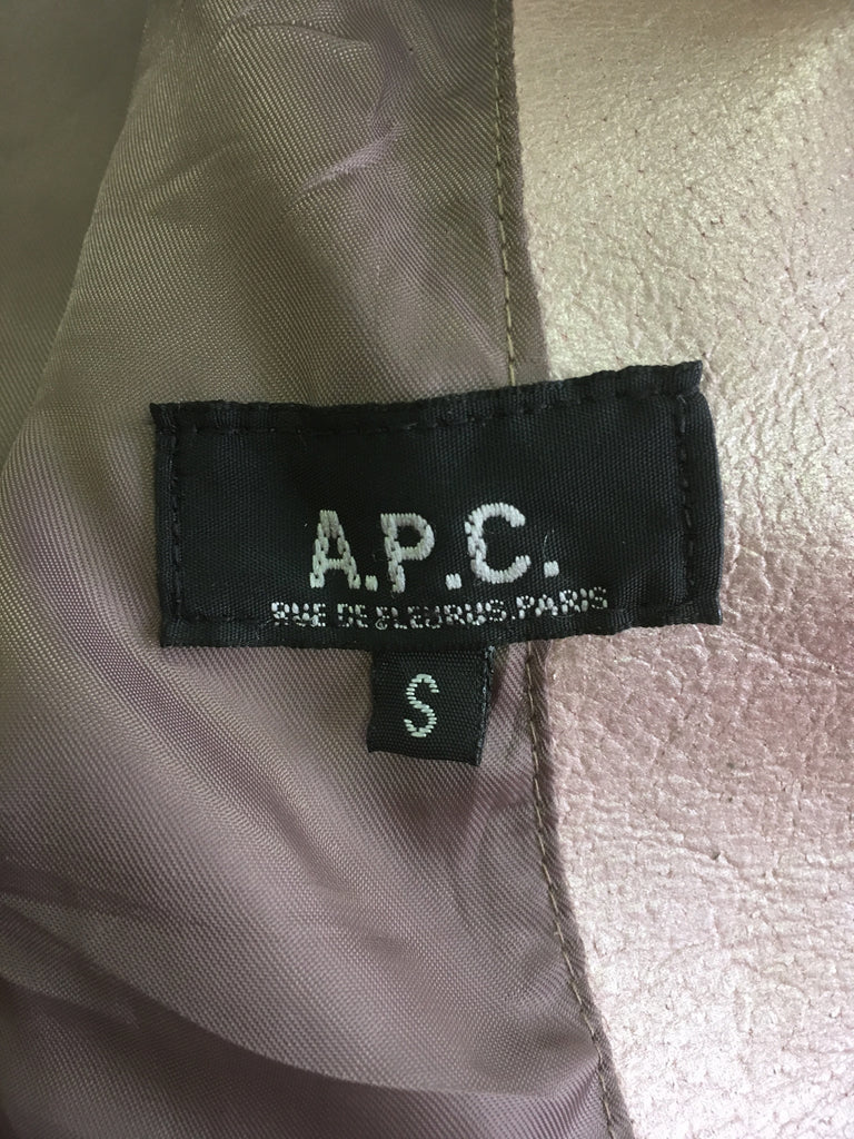 APC AW1994 dusty pink leather zip jacket - womens S