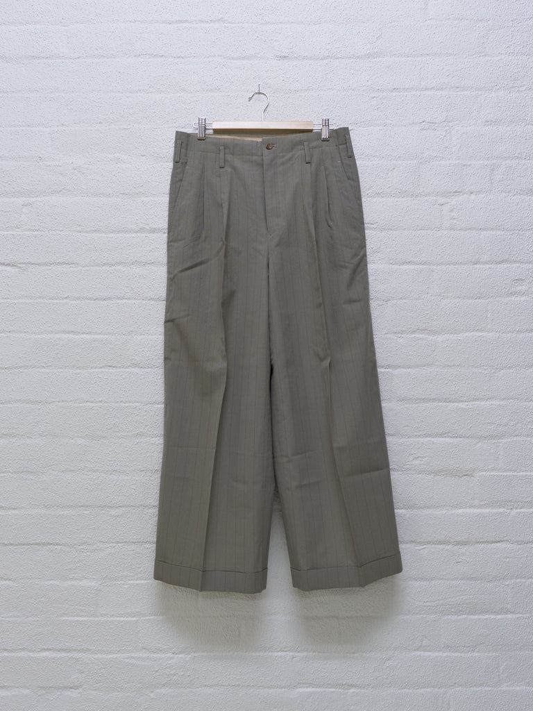 Comme des Garcons 1992 striped wide leg trousers - womens S M