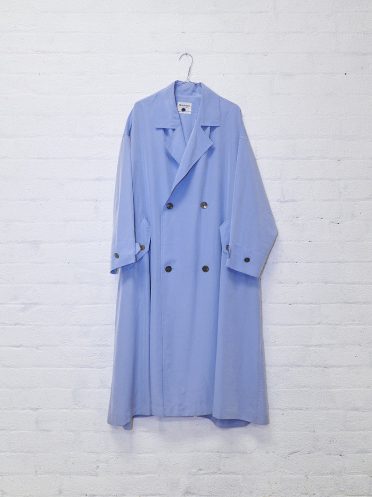 plantation double breasted rectangle coat - 1990s