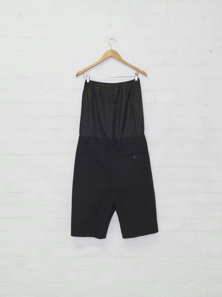 "BLESS no. 49 ""Alternarrative"" / 2013 black tube top panel shorts - mens S M"