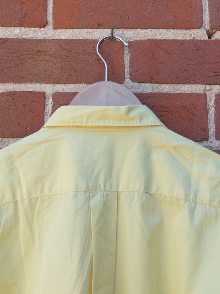 comme des garcons homme yellow oversized short sleeve shirt - circa 1990s