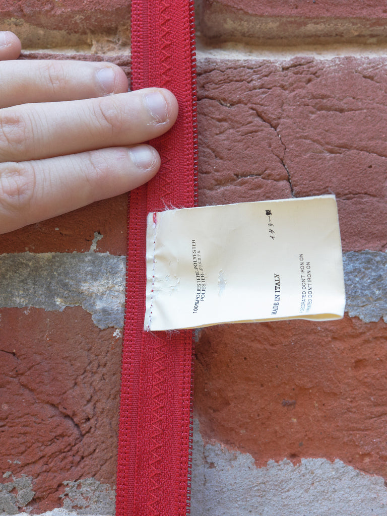 Maison Martin Margiela 6 2000s red polyester zip tape bag