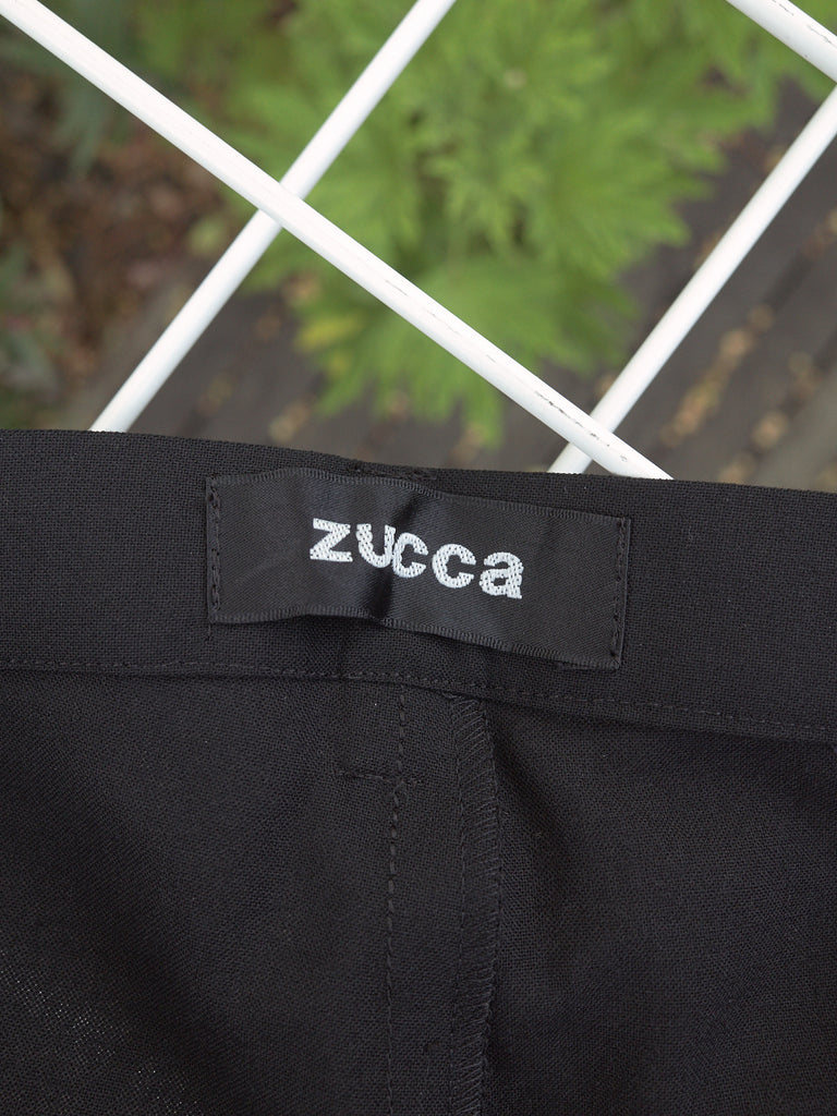Zucca black wool blend (very) cropped pants - womens M S