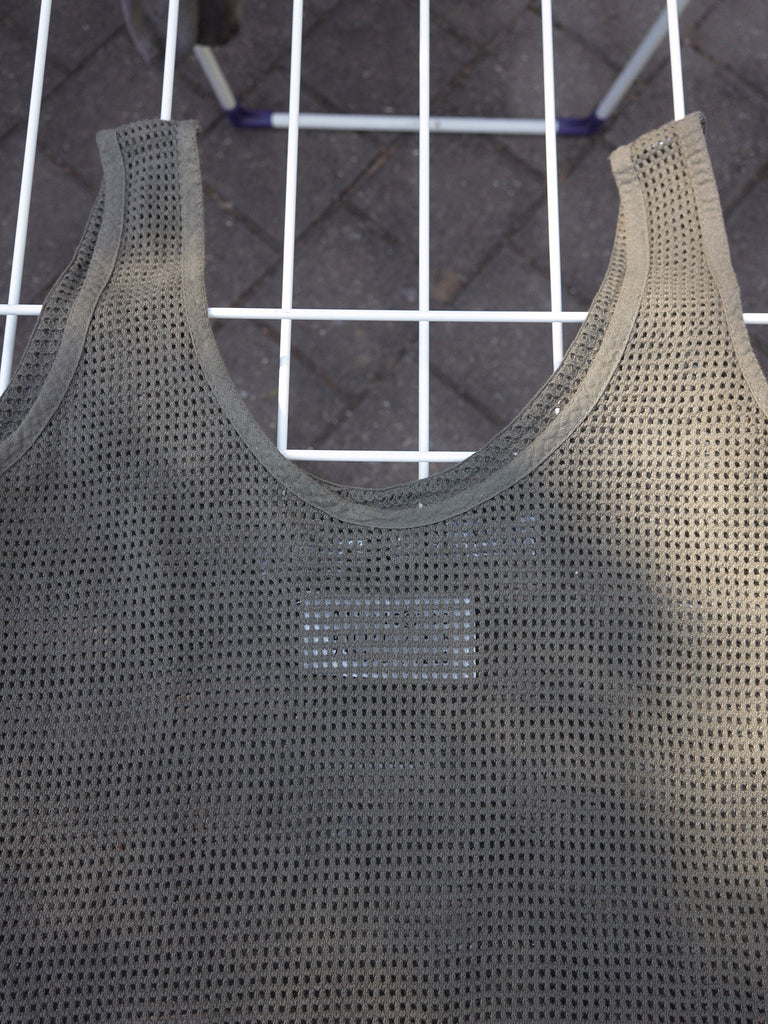 maison martin margiela 6 khaki mesh zipped convertible singlet / tote bag - early 2000s