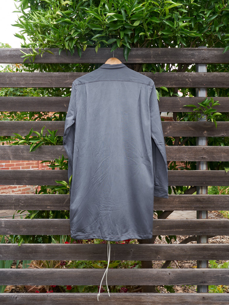 Comme des Garcons Homme 1996 grey zipped drawstring hem shirt jacket - mens S M