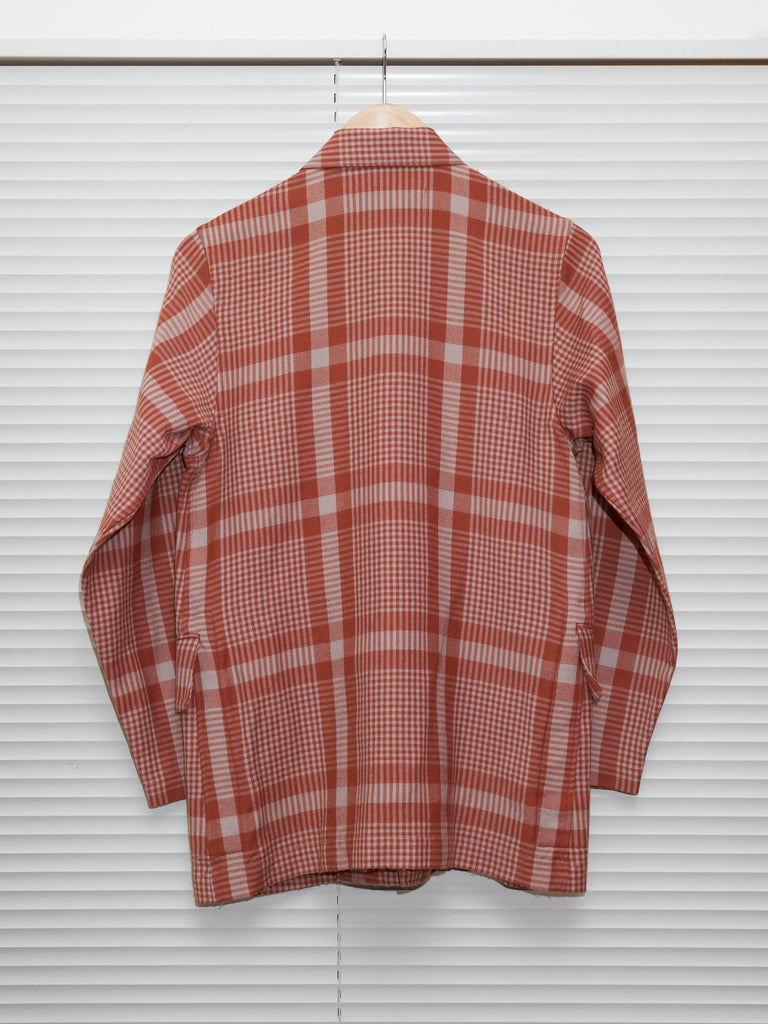 Tricot Comme des Garcons 1994 burnt orange grey wool check jacket - womens M