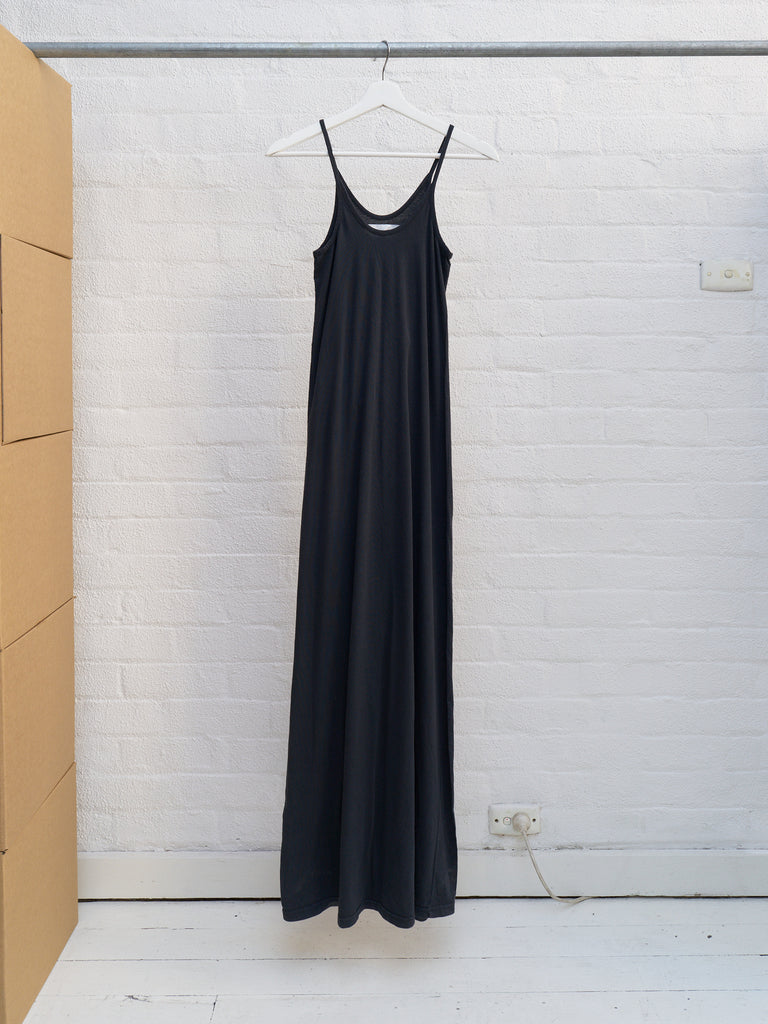 Maison Martin Margiela 6 1990s dark grey cotton extra long singlet dress - sz 38