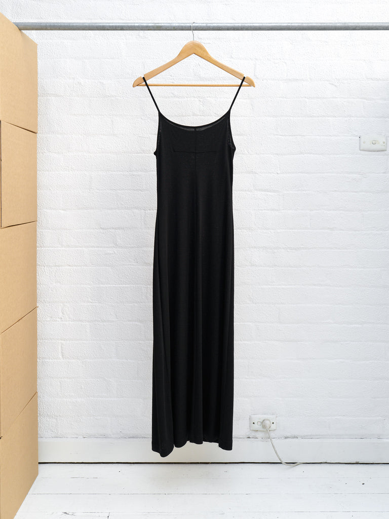 Helmut Lang 1990s black wool jersey singlet dress - size S