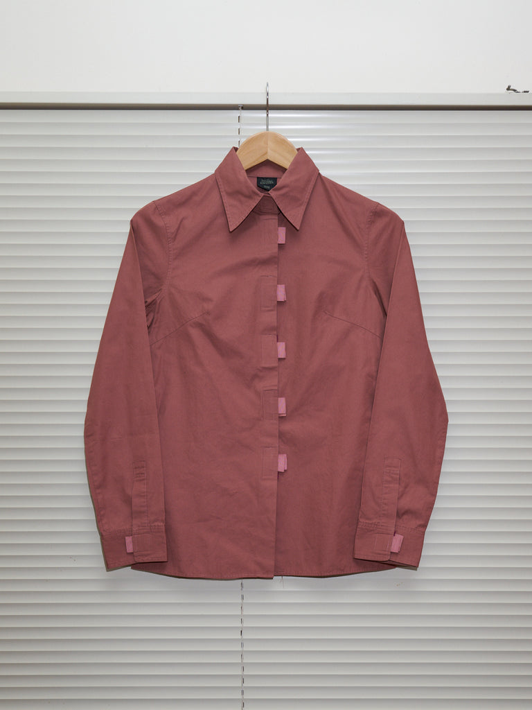 Jean Paul Gaultier Femme salmon cotton velcro placket shirt - womens 40 38